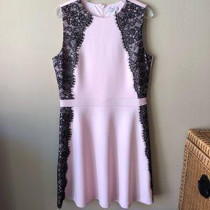 NWT Dress tan Pink Dress Size 14-16